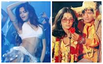 """The original Dum Maaro Dum song by iconic composer R.D Burman broke all boundaries and catapulted both the movie, Hare Rama Hare Krishna and Zeenat Aman into cult status. As a chillum – inhaling hippie, Zeenat Aman oozed a strong sex appeal, without even needing to show skin. Fast forward to 2011, and Pritam came out with his club-remixed version of the classic number, with Deepika Padukone gyrating to the music, clad in a tiny metallic dress, but sadly lacking the oomph factor that her predecessor had. Equally horrifying are the cringe-worthy lines - <em>""""Aaj mere liye chair kheech raha hai, kal meri skirt kheechega."""" </em>The remixed version reportedly had yesteryears icon, Dev Anand fuming at director Rohan Sippy for mutilating the song sung by the legendary Asha Bhosle."""