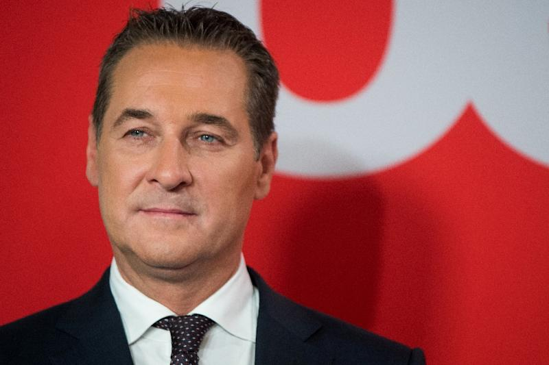 Heinz-Christian Strache, the head of Austria's populist FPOe party, says that large parts of his party's manifesto have been adopted by other parties. (AFP Photo/VLADIMIR SIMICEK)