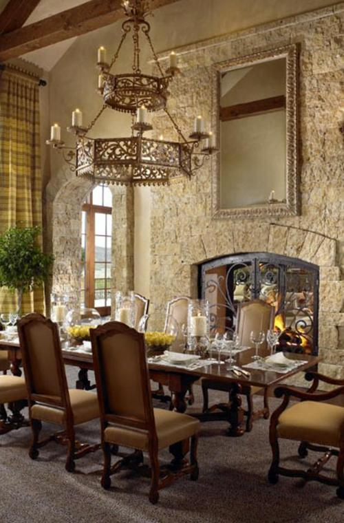The stunning dining area is perfect for all those lavish dinner parties.