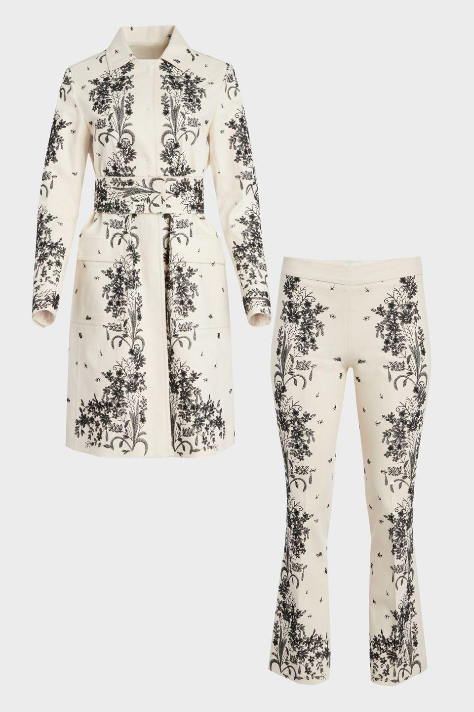 "<p>For civil ceremonies, day-after brunches, and rehearsal dinners alike, tap into prints, pops of color, and coats rather than jackets. Trust us: you're more likely to wear not-so-ivory and layering pieces again and again, long after your wedding weekend.</p><p><em>Embroidered coat, $8,200, <a href=""https://www.giambattistavalli.com/en/eshop/ready-to-wear/readytowear_coats/ivory-gabardine-embroidered-coat/"" rel=""nofollow noopener"" target=""_blank"" data-ylk=""slk:giambattistavalli.com"" class=""link rapid-noclick-resp"">giambattistavalli.com</a></em> <a class=""link rapid-noclick-resp"" href=""https://www.giambattistavalli.com/en/eshop/ready-to-wear/readytowear_coats/ivory-gabardine-embroidered-coat/"" rel=""nofollow noopener"" target=""_blank"" data-ylk=""slk:SHOP"">SHOP</a> </p><p><em>Cropped trouser, $2,750, <a href=""https://www.giambattistavalli.com/en/eshop/trianon/trianon_skirts_pants/gabardine-embroidered-pants/"" rel=""nofollow noopener"" target=""_blank"" data-ylk=""slk:giambattistavalli.com"" class=""link rapid-noclick-resp"">giambattistavalli.com</a></em> <a class=""link rapid-noclick-resp"" href=""https://www.giambattistavalli.com/en/eshop/trianon/trianon_skirts_pants/gabardine-embroidered-pants/"" rel=""nofollow noopener"" target=""_blank"" data-ylk=""slk:SHOP"">SHOP</a></p>"