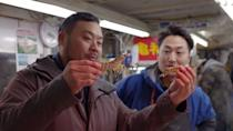 """<p>With his restaurants, Momofuku's David Chang seeks to nourish and astonish people with food. But his intention with the show <em>Ugly Delicious </em>is to change the way people <em>think </em>about food. In each episode, Chang, usually accompanied by a celebrity guest, uncovers how speciality dishes are prepared around the world.</p><p><a class=""""link rapid-noclick-resp"""" href=""""https://www.netflix.com/watch/80170368?source=35"""" rel=""""nofollow noopener"""" target=""""_blank"""" data-ylk=""""slk:Watch Now"""">Watch Now</a></p>"""