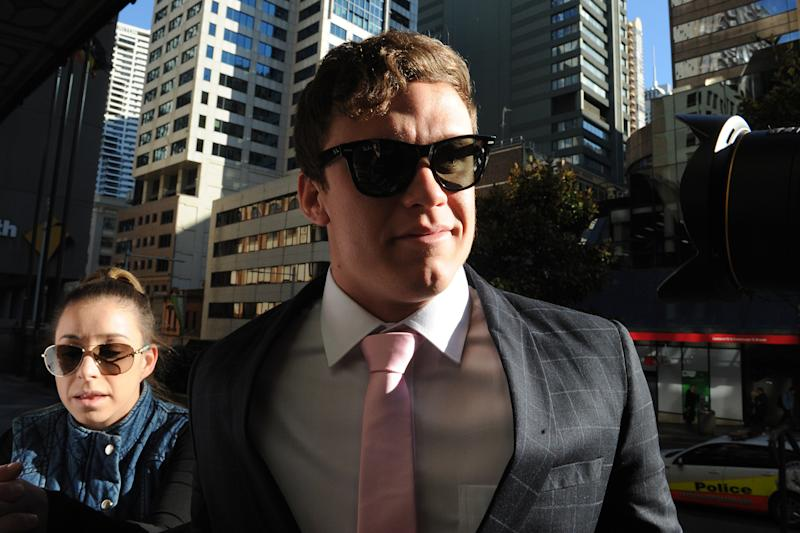Zane Alchin arrives at the Downing Centre court in Sydney on July 29, 2016. Source: AAP