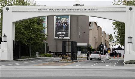 An entrance gate to Sony Pictures Entertainment at the Sony Pictures lot is pictured in Culver City