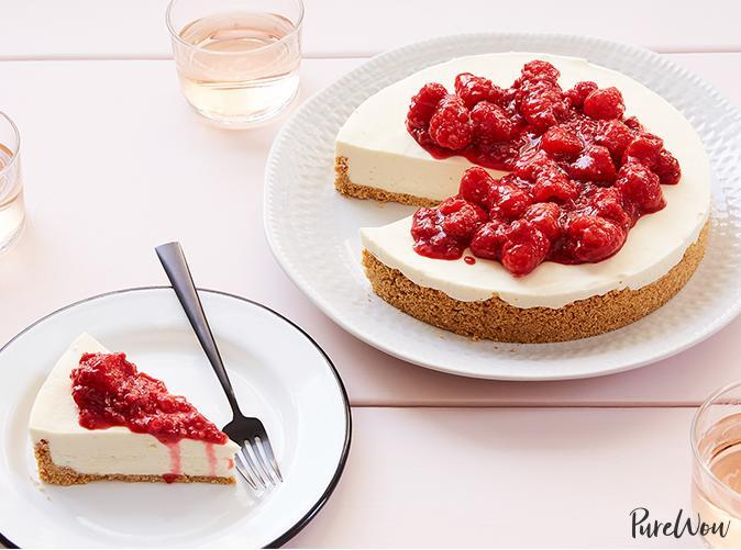 """<p>For those of you who avoid the oven at all costs come summer. </p> <p><a class=""""link rapid-noclick-resp"""" href=""""https://www.purewow.com/recipes/no-bake-cheesecake-recipe"""" rel=""""nofollow noopener"""" target=""""_blank"""" data-ylk=""""slk:Get the recipe"""">Get the recipe</a></p>"""