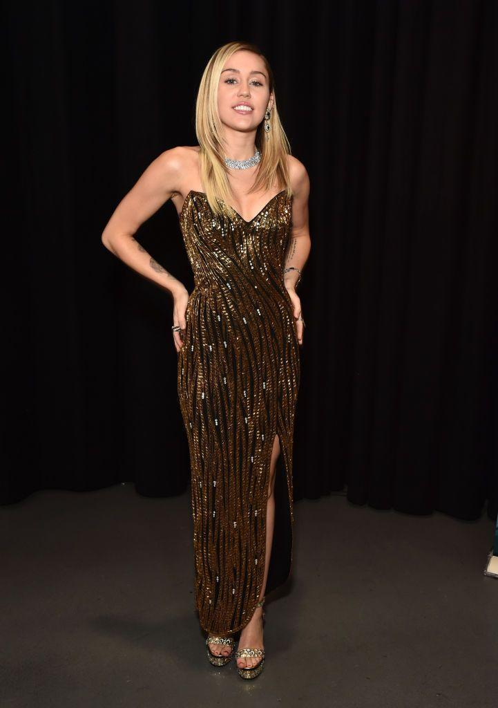 <p>Cyrus wore vintage Bob Mackie - one of Cher's famous designers - while judging on The Voice.</p>