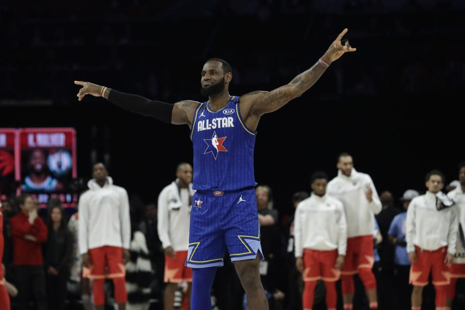 LeBron James of the Los Angeles Lakers is looking to win another NBA All-Star Game. (AP Photo/Nam Huh)