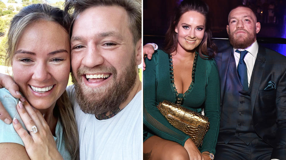 Conor McGregor, pictured here with partner Dee Devlin.