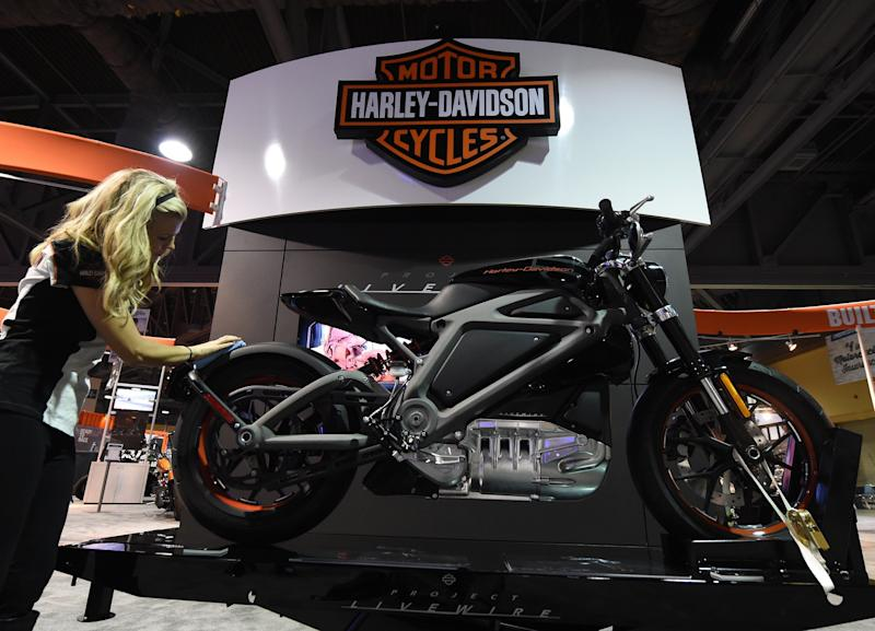 Harley-Davidson's first electric motorcycle is called Livewire.