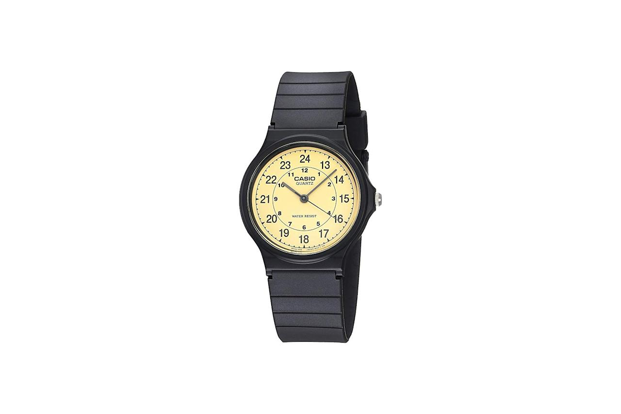 "Good enough for <a href=""https://www.gq.com/story/watches-of-the-week-11-9-19?mbid=synd_yahoo_rss"">Tyler, the Creator</a>? Good enough for you. $22, Amazon. <a href=""https://www.amazon.com/Casio-MQ24-9B-Classic-Analog-Watch/dp/B0001XVUFA"">Get it now!</a>"