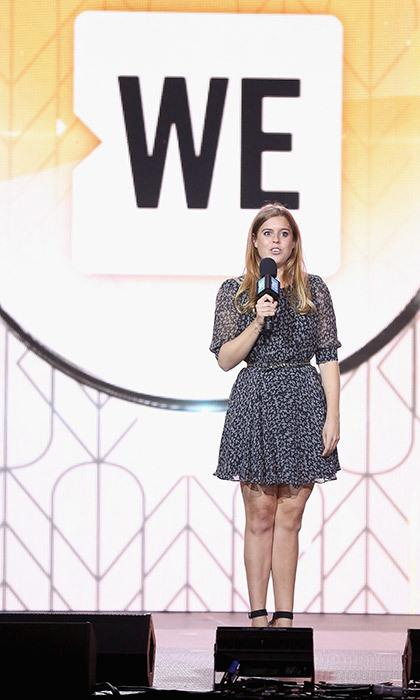 Princess Beatrice on stage at WE Days