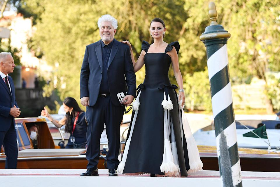 <p>Penelope Cruz and director Pedro Almodóvar arrived for a screening on <em>Parallel Mothers</em>, which opened the festival this year, on Sept. 1. </p>