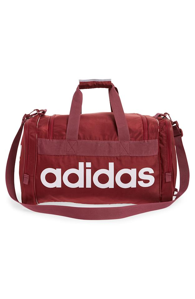 """<p><strong>ADIDAS ORIGINALS</strong></p><p>nordstrom.com</p><p><strong>$45.00</strong></p><p><a rel=""""nofollow"""" href=""""https://shop.nordstrom.com/s/adidas-original-santiago-duffel-bag/4897019"""">SHOP NOW</a></p><p>Any <a rel=""""nofollow"""" href=""""https://www.womansday.com/health-fitness/workout-routines/a22996682/easy-quick-home-exercise-tips/"""">fitness junkie</a> will love this spacious gift that stylishly holds all his gear. <br></p>"""