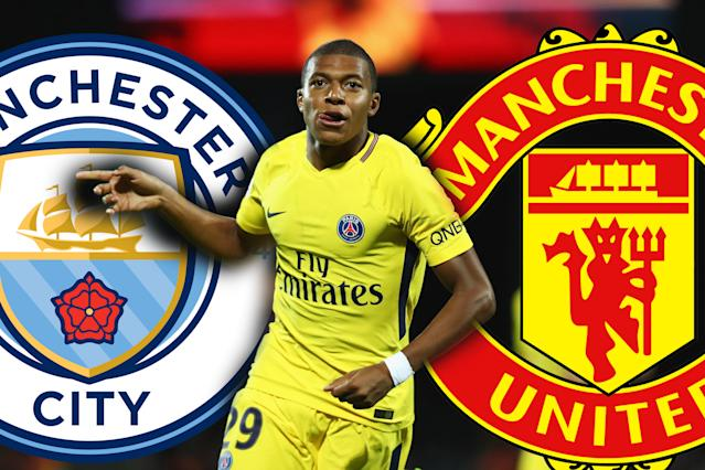 Kylian Mbappe of Paris Saint-Germain is wanted by both Manchester clubs.