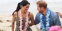 <p>On day 4 of their official royal visit, the couple looked more in love than ever as they sat South Bondi Beach in Sydney with members of OneWave, an awareness group for mental health and wellbeing. </p>