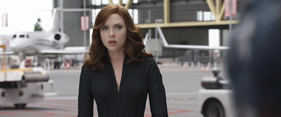<p>A reluctant member of Team Iron Man who still has an allegiance to longtime allies Captain America and Hawkeye, she nevertheless wants to be on the right side of the law. <i>(Photo: Disney)</i></p>