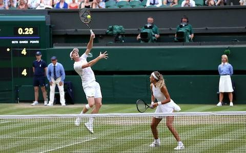 <span>Murray and Azarenka in action on Wednesday at Wimbledon</span> <span>Credit: PA </span>
