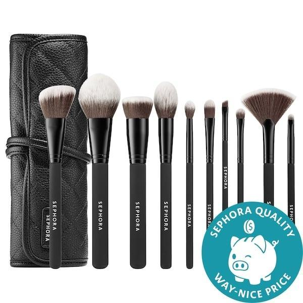 <p>New year, new brushes? This <span>Sephora Collection Ready to Roll Brush Set</span> ($72) restocks a whole stash.</p>