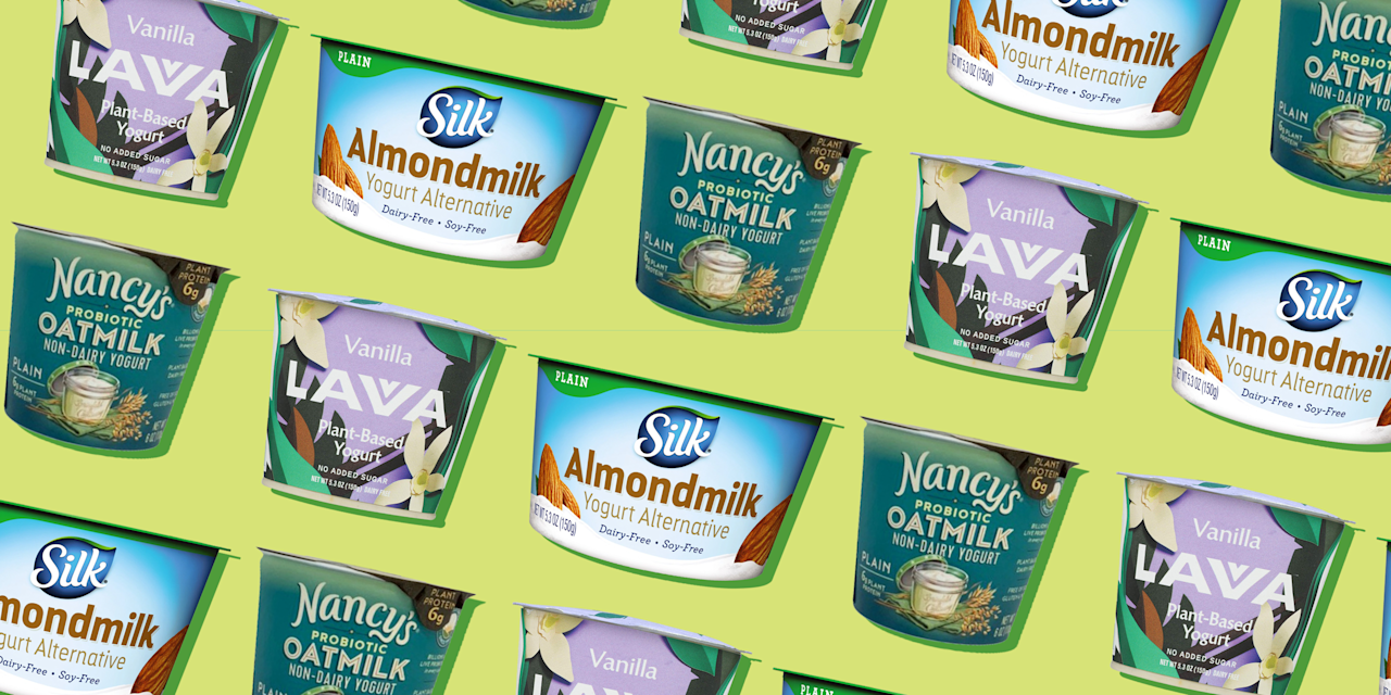 """<p>Today, you'll see as many dairy-free yogurts, milk, and cheeses line the dairy aisle shelves as their cow's milk counterparts. As plant-based diets become more popular, people are looking to ditch dairy for a variety of reasons. </p><p>Whether you're skipping cow's milk because it sends you straight to the bathroom or you want to cut back on saturated fat from animal products, dairy-free yogurts can make a great substitute. But choosing dairy-free yogurt that lives up to the nutritional benefits of cow's milk varieties can be challenging. </p><p>""""Dairy-free yogurt is a great option if you are looking for a dairy alternative due to personal preference or lactose intolerance—they are lactose-free but still contain a decent amount of healthy fats,"""" says <a href=""""https://www.eatrightpro.org/media/meet-our-spokespeople/spokespeople/angel-planells"""" target=""""_blank"""">Angel Planells</a>, RDN, a Seattle-based registered dietitian nutritionist and spokesperson for the Academy of Nutrition and Dietetics. """"It is important to look at these yogurts as a satisfying snack, with the key things to focus on being calories, fiber, sugar (especially added sugars), protein, and fat."""" Let's decode what exactly to look for on the label.<strong></strong></p><h3>How to buy the best dairy-free yogurt</h3><p><strong></strong>""""Comparing food labels among non-dairy yogurts can be very challenging, because nutrients widely vary,"""" says Kristen Smith, RD, Atlanta-based dietitian, founder of <a href=""""https://360familynutrition.org/"""" target=""""_blank"""">360 Family Nutrition</a> and spokesperson for the Academy of Nutrition and Dietetics. That's because of the differences in the main ingredient used to make yogurt. </p><p>Most dairy-free yogurts you see you in stores are made with almonds, cashews, soy, coconut, flaxseed, or oats as the base. But finding the best one for you comes down to taste and mouthfeel, says Planells. She adds that the plain version is a good option because you can add your own top"""