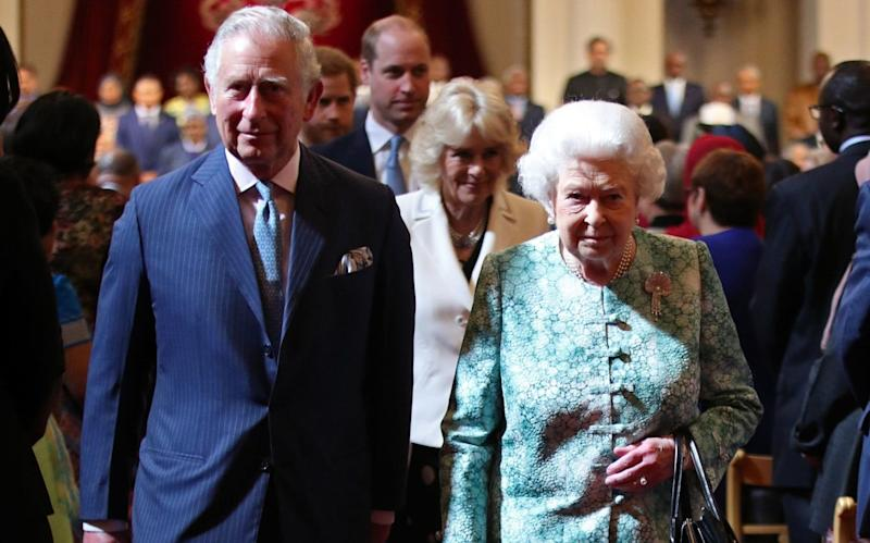 The Queen and the Prince of Wales at the official opening of CHOGM - PA
