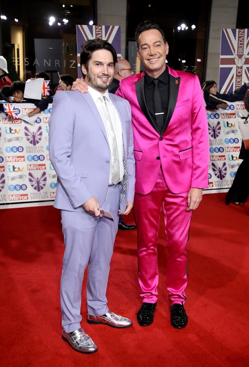 Craig Revel Horwood and Jonathan Myring attend Pride Of Britain Awards 2019 at The Grosvenor House Hotel on October 28, 2019 in London, England. (Photo by Mike Marsland/WireImage)