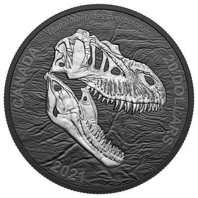 "The Royal Canadian Mint's black rhodium plated coin featuring the ""Reaper of Death"" (CNW Group/Royal Canadian Mint)"