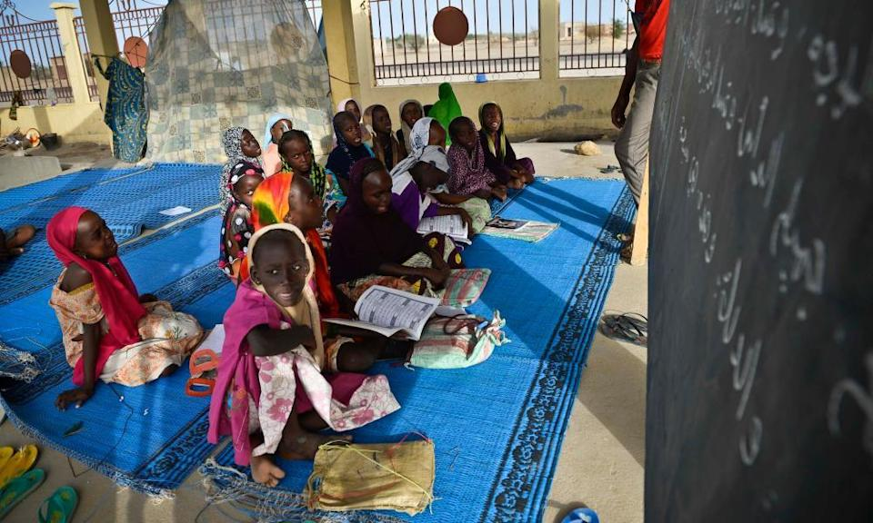 Madrasa education for the refugee children in Chad.