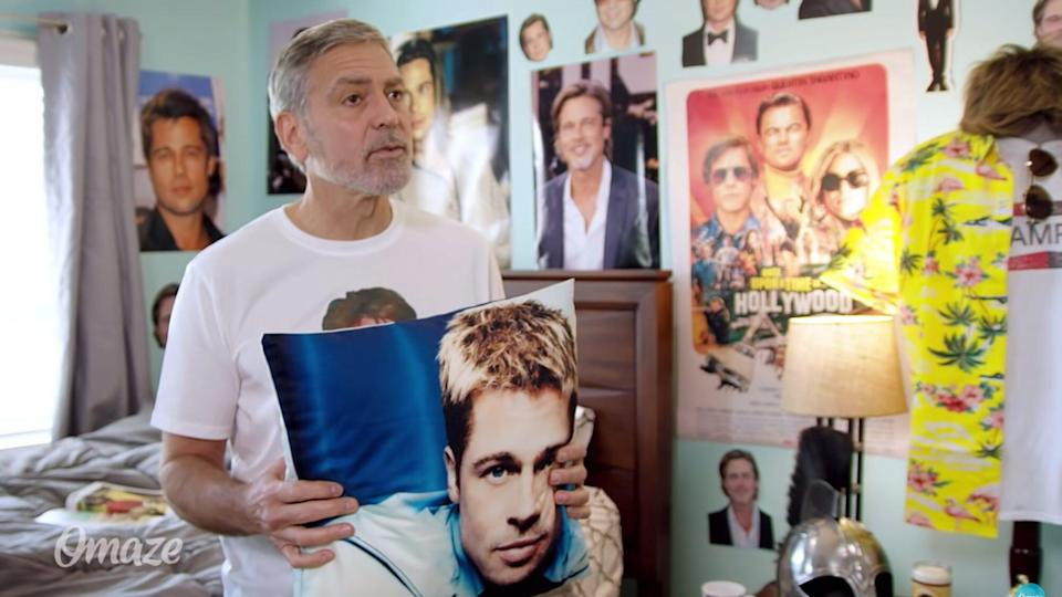 George Clooney Is Brad Pitt's biggest Fan in Hilarious Charity Video