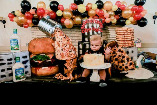 PHOTO: Nataly Stein, owner of Great Dane Baking Company, baked all the goodies for her son Campbell's 1st birthday party. (Sara Santana Photography)