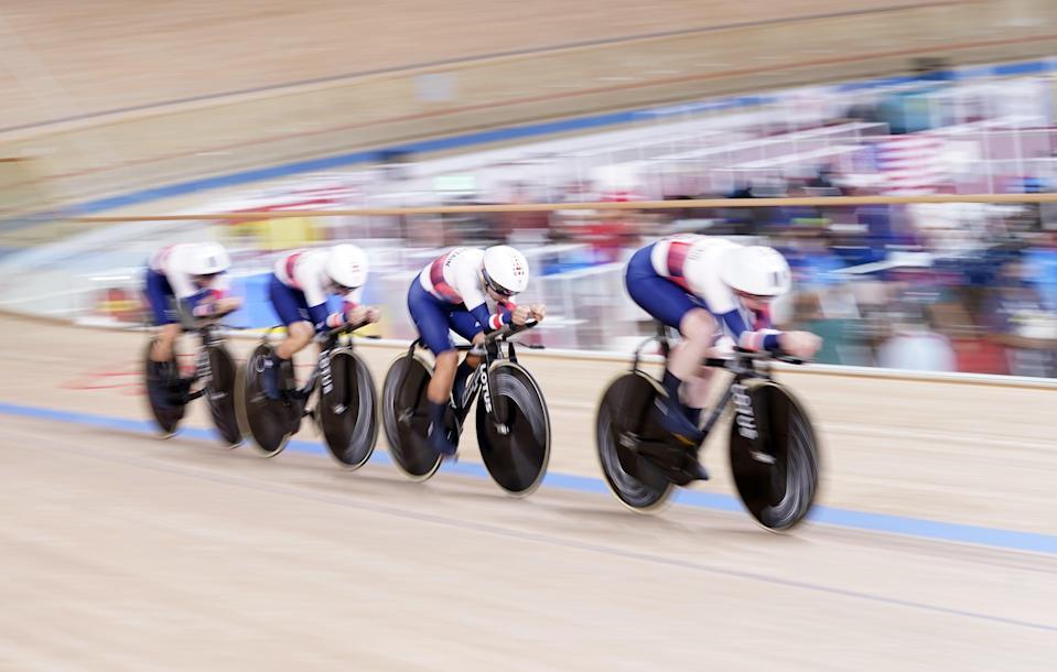 Katie Archibald, Laura Kenny, Neah Evans and Josie Knight had to settle for silver (Danny Lawson/PA) (PA Wire)