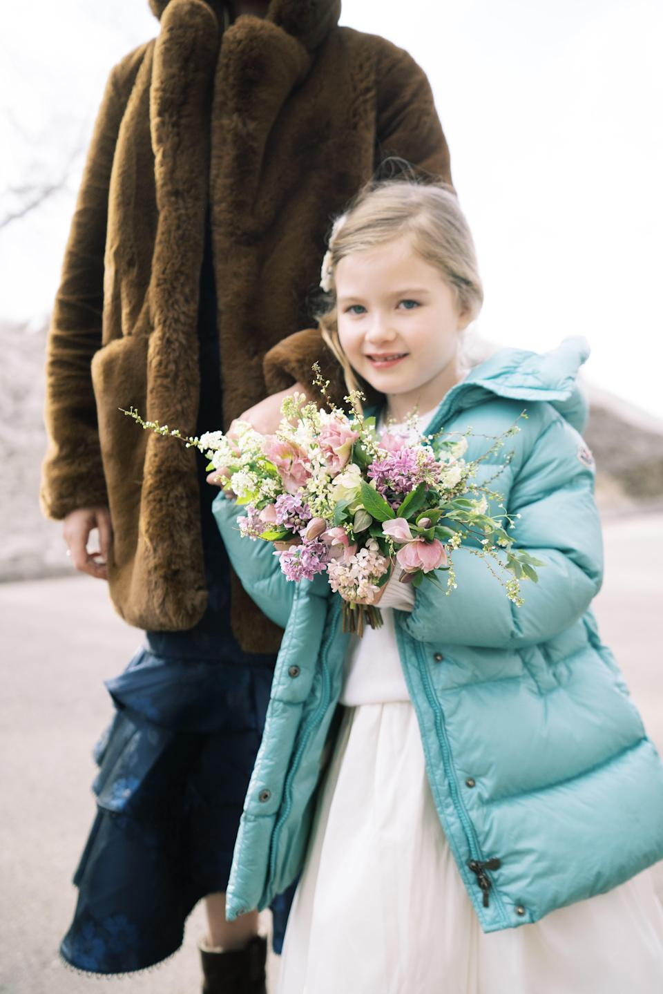 My sister-in-law, Yolande Whitcomb, and our beautiful flower girl, her daughter May.