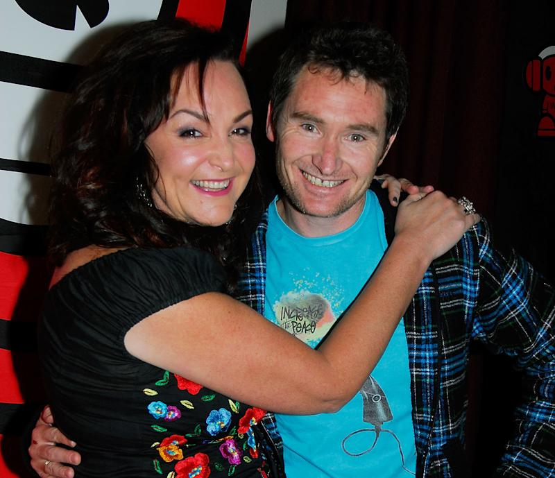"""Kate Langbroek and Dave Hughes are seen in 2008. The Australian radio duo are hosts of the """"Hughesy & Kate"""" radio show on theKIIS Network."""