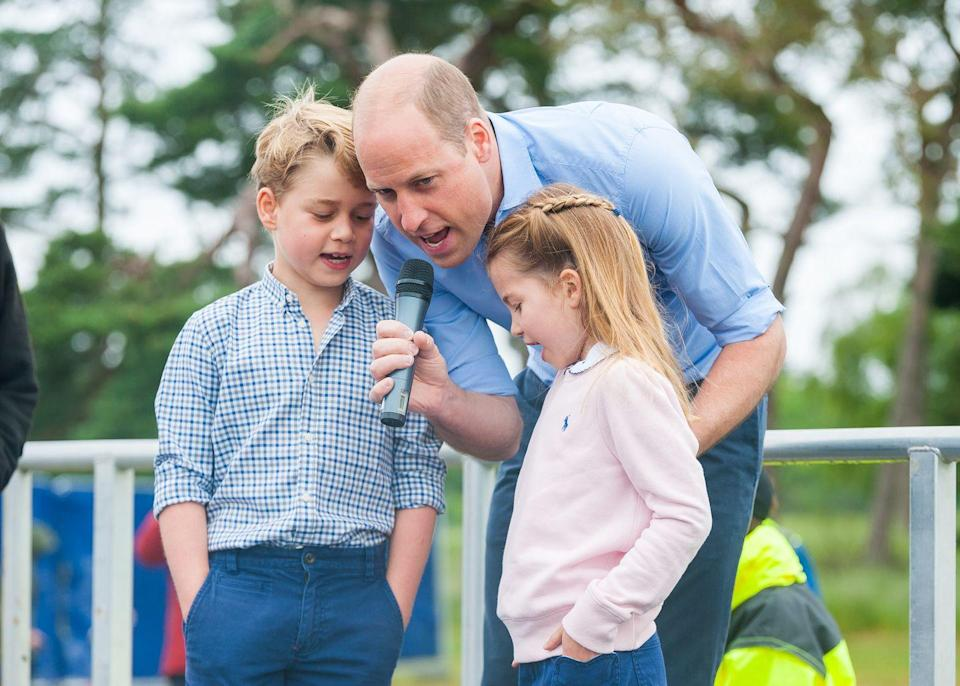 <p>On Father's Day, the Duke and Duchess of Cambridge's eldest children Prince George and Princess Charlotte spent time with their father Prince William at a half marathon event in Sandringham, Norfolk. </p><p>The seven and six-year-old helped their Dad count down from 10 at the start line (which they did three times to account for a socially distanced race) and were captured by photographer Ian Burt.</p>