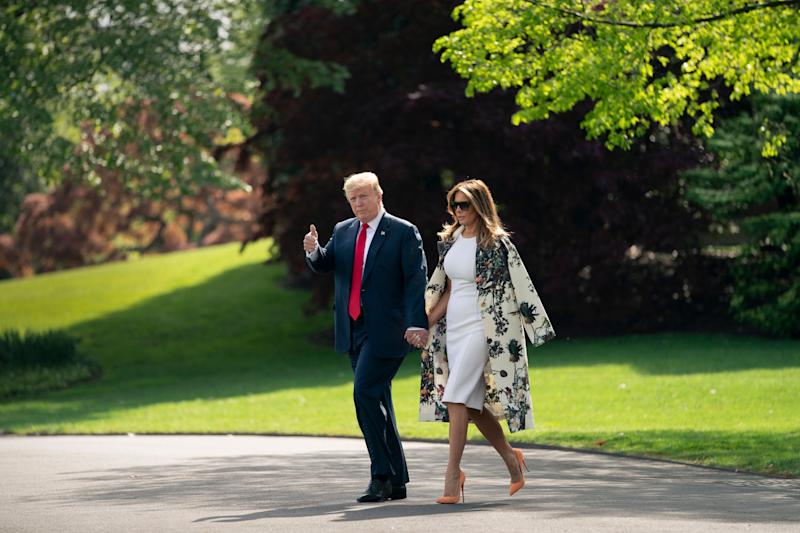 President Donald Trump leaves Washington to go to his private club in Florida after the release of the redacted Mueller report Thursday. (Photo: J. Scott Applewhite/ASSOCIATED PRESS)