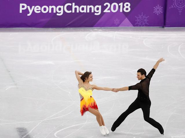 Figure Skating - Pyeongchang 2018 Winter Olympics - Ice Dance short dance competition - Gangneung Ice Arena - Gangneung, South Korea - February 19, 2018 - Kavita Lorenz and Joti Polizoakis of Germany perform. REUTERS/Damir Sagolj TPX IMAGES OF THE DAY
