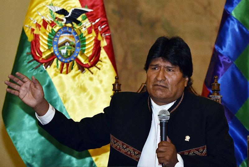 Bolivian President Evo Morales, pictured on February 22, 2016, says Russia will build a nuclear research lab in El Alto (AFP Photo/Aizar Raldes)