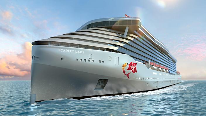 Virgin Voyages' first ship, Scarlet Lady, will finally set off on her maiden voyage on Oct. 16, six months later than scheduled due to the coronavirus pandemic. Scroll ahead to get a look around the ship.