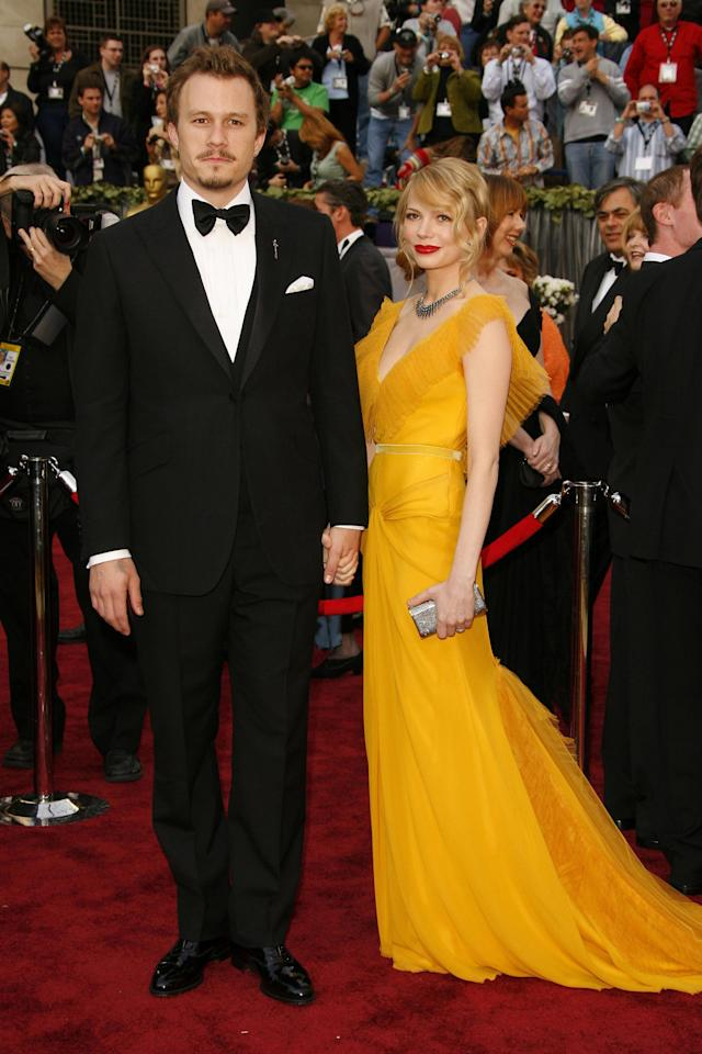 Heath Ledger and Michelle Williams attend the 2006 Oscars. (Photo: Chris Polk/FilmMagic)