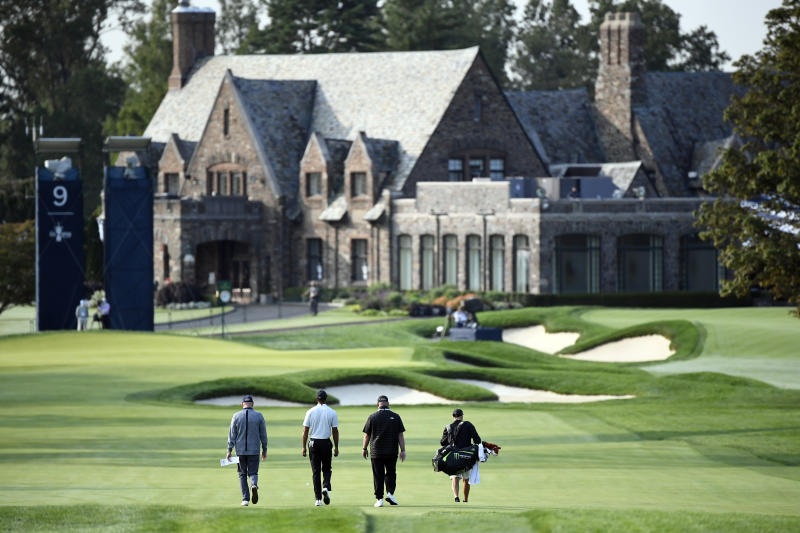 Tiger Woods and friends prepare for the U.S. Open at Winged Foot. (Danielle Parhizkaran / USA TODAY Sports)