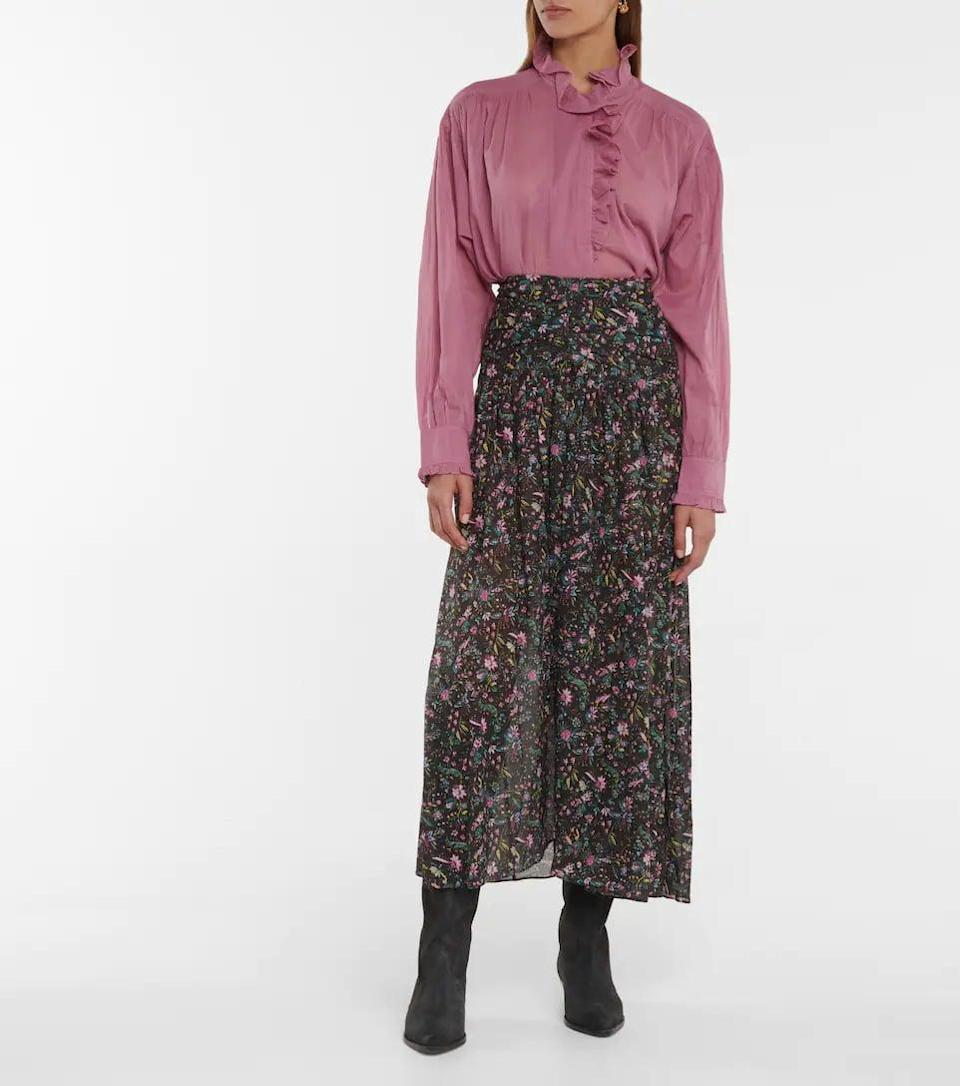 <p>This <span>Isabel Marant Etoile Marino Floral Cotton Maxi Skirt</span> ($385) is a great floral skirt for fall. We like it paired with a turtleneck and boots.</p>