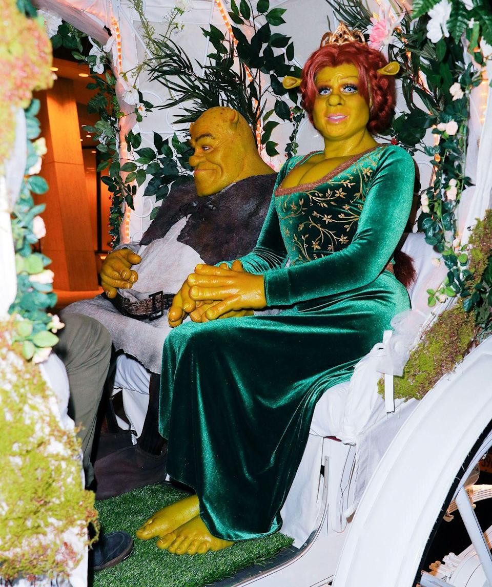 <p>In 2018, the German star went all out and dressed up as green ogress Princess Fiona. The model arrived at her annual Halloween party in a white horse-drawn carriage alongside her now husband, guitarist Tom Kaulitz, who dressed as Disney's Shrek for the occasion. </p>
