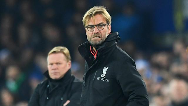 Jurgen Klopp has urged his Liverpool players not to become carried away in the frantic atmosphere of a Merseyside derby.