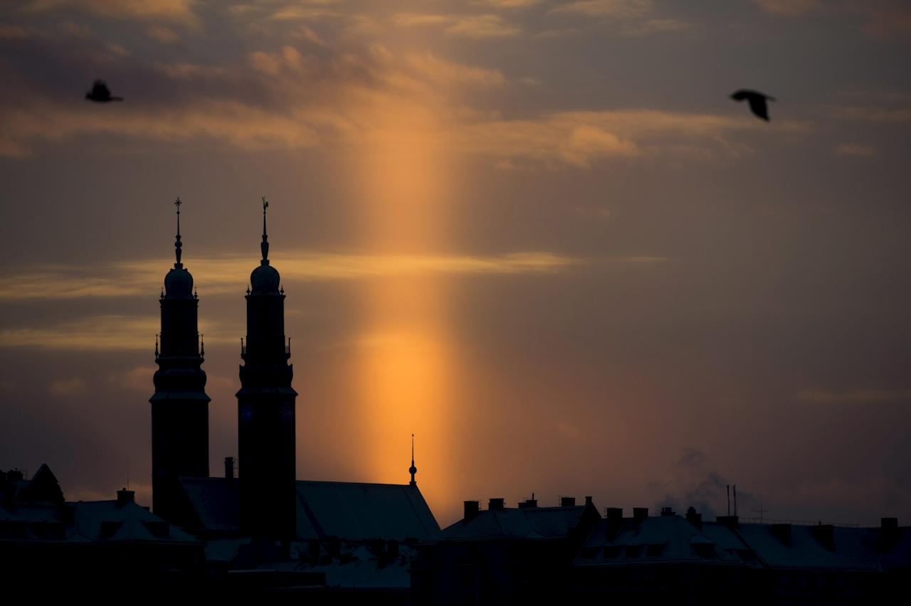 <p>Sweden secured ninth place. Here's a stunning view of the sunset in Stockholm (Reuters) </p>