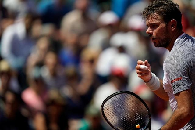 Wawrinka showed some of his old form to beat Dimitrov in three tie-breaks (AFP Photo/Kenzo TRIBOUILLARD)