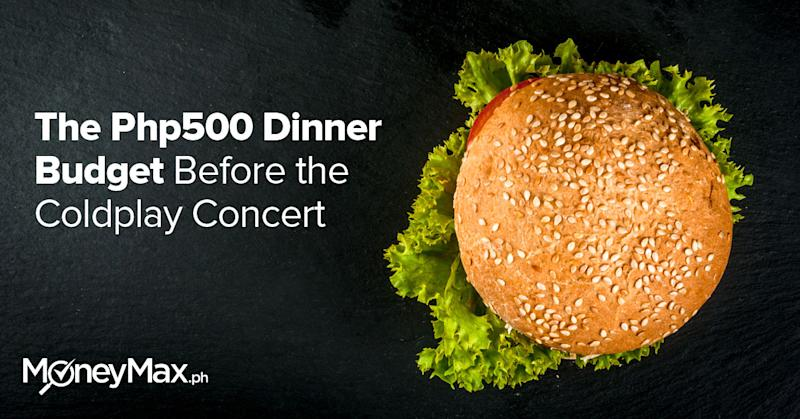 Dinner Budget Before the Coldplay Concert