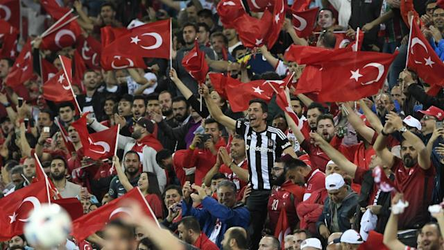 Supporters of second tier side Elazigspor were prevented from watching their team from the stands, but that did not stop them taking in the action