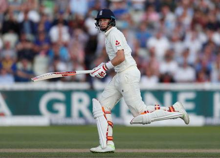 Cricket - England vs West Indies - First Test - Birmingham, Britain - August 17, 2017   England's Joe Root in action   Action Images via Reuters/Paul Childs