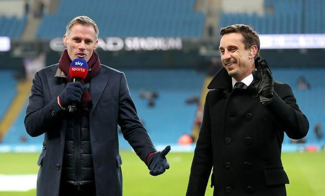 Sky pundits Jamie Carragher and Gary Neville criticised Arsenal's performance at Brentford.