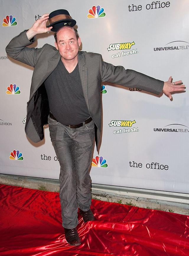 """David Koechner arrives at """"The Office"""" series finale wrap party at Unici Casa Gallery on March 16, 2013 in Culver City, California."""