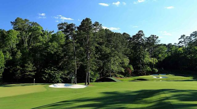 Augusta's 11th green and 12th hole are tucked far from the clubhouse at Amen Corner. Strolling through them is the best walk in golf.