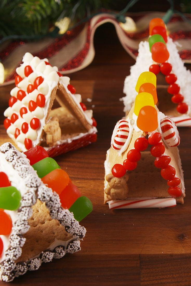 """<p>Get ready for the sweetest little houses.</p><p>Get the recipe from <a href=""""https://www.delish.com/cooking/recipe-ideas/recipes/a56692/mini-gingerbread-houses-recipe/"""" rel=""""nofollow noopener"""" target=""""_blank"""" data-ylk=""""slk:Delish"""" class=""""link rapid-noclick-resp"""">Delish</a>.</p><p><a class=""""link rapid-noclick-resp"""" href=""""https://httpslink.com/delishinsane"""" rel=""""nofollow noopener"""" target=""""_blank"""" data-ylk=""""slk:GET YOURS NOW"""">GET YOURS NOW</a> <strong><em>Delish Insane Sweets Cookbook</em></strong> </p>"""